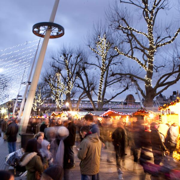 Visitors at Southbank Centre Winter Market